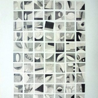 <strong>77 SQUARES </strong>, pencil 55x75cms