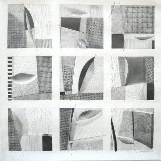 <strong>KYOTO GARDEN </strong>, pencil 91x91cms (framed)