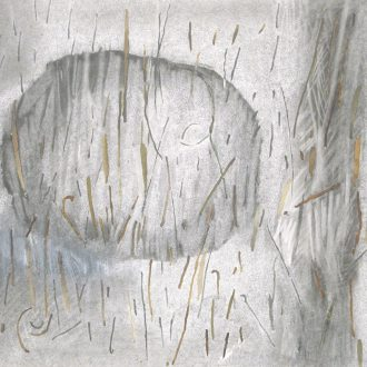 <strong>SEAWEED CALLIGRAPHY </strong>, pencil & mixed media