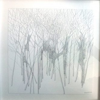 <strong>TREES2 </strong>, pencil 33x33cms (framed)