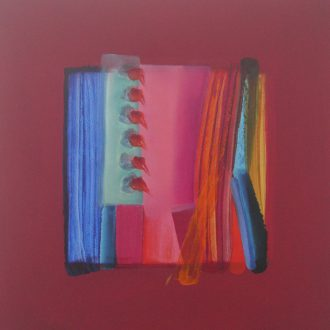 <strong>MAGENTA SERIES 1</strong>, oil on board 80x80cms